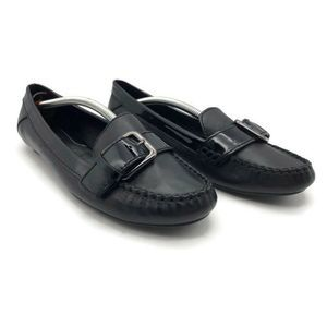 Cole Haan Womens Loafer Flat Shoes Black Mock Toe